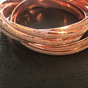 Rose Gold Glitter ✨ Bangle Stack